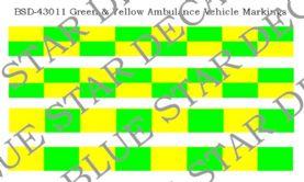 Green & Yellow Battenberg Vehicle Markings